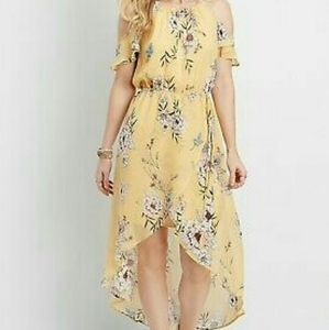 Maurices Floral Print Cold Shoulder Dress
